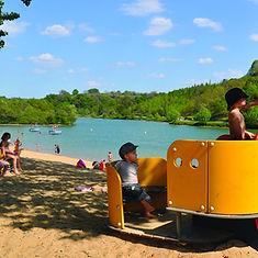 Aire de jeux pour enfants, à la plage à Anglet