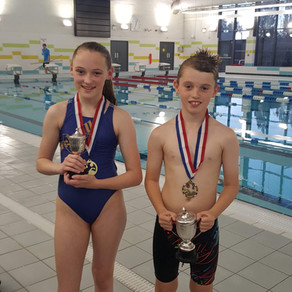 Ruby and Ben are Swimmers of the Month