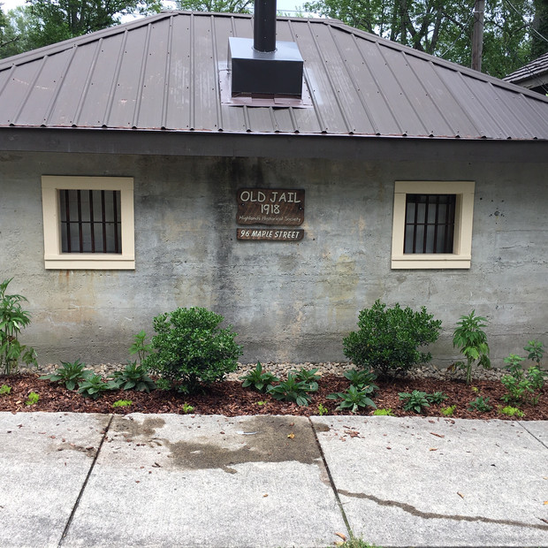 Front of Old Jail House After Mulch Was added