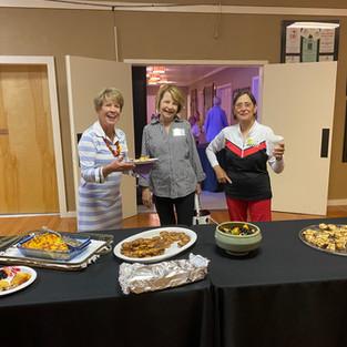 August 9 21 meeting.jpg Ellie Houston, Faye Lockhard and Ginny Dunwody