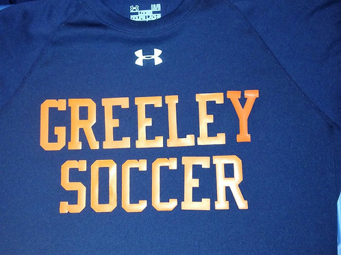 Greeley soccer Under Armour tee shirt