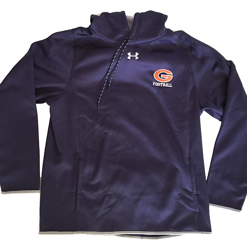 Greeley Football navy hooded pullover fleece