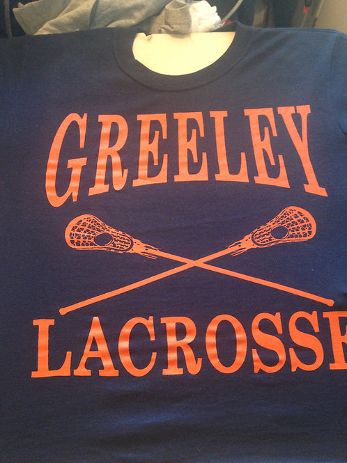 Greeley lacrosse cotton tee shirt