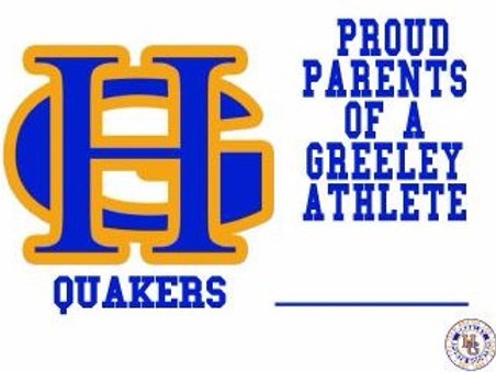 Greeley Sports Boosters Lawn Sign