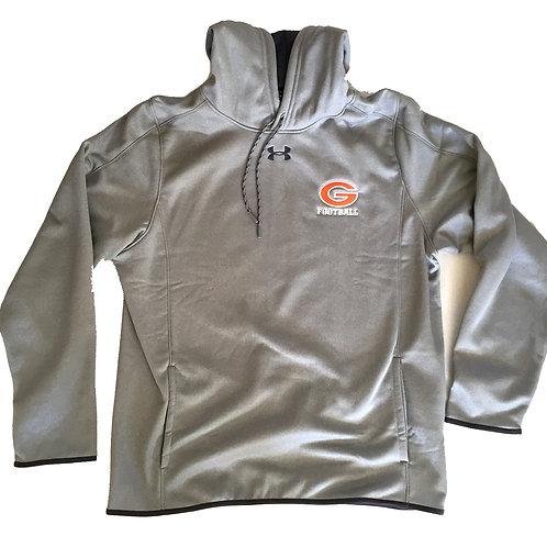 Greeley Football charcoal hooded pullover fleece