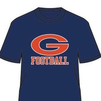 Greeley Football Under Armour navy tee shirt with Greeley football logo