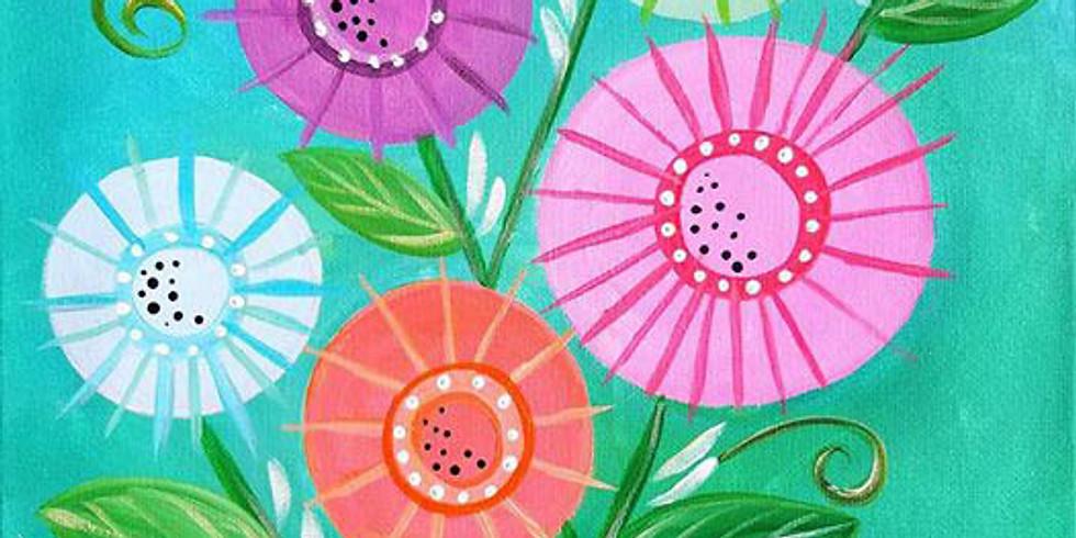 "HUDSON YMCA - ""Button Flower Bouquet"""