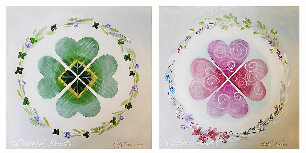 """FOREST LAKE YMCA  """"Irish Wreath & Hearts"""" Only $25"""
