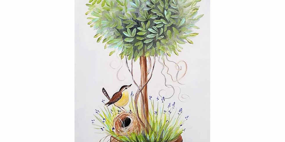 """Caribou Coffee - """"Spring Topiary Tree""""  Only $25"""