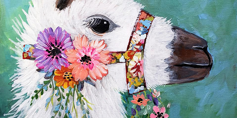 White Bear Lake YMCA - LLAMA PAINTING  (Outside Painting class )only $25