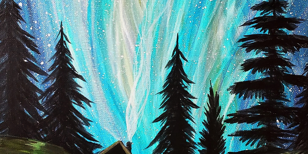 "Cascade Lodge - North Shore Lutsen MN "" Northern Lights"""