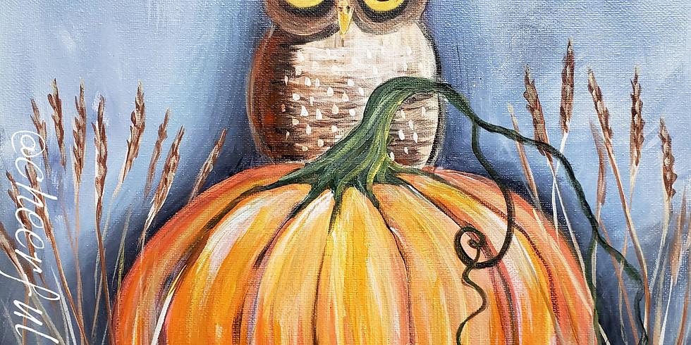 "WHITE BEAR LAKE YMCA -  "" Pumpkin & Owl"" only $25"