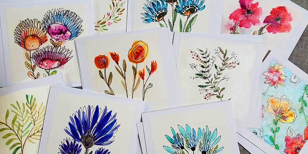 ONLY $20!  Watercolor Sampler Saturday - Summer Event!