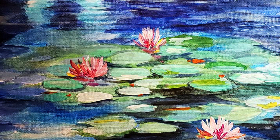 """CARIBOU COFFEE mplwd - """"WATER LILIES""""  Only $30"""