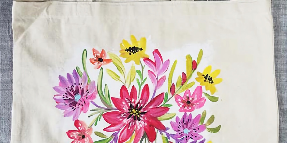 Forest Lake YMCA - Spring Flower Tote Bag. only $28