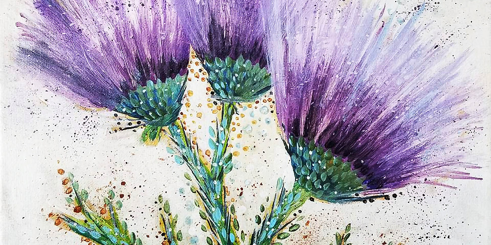 Thistle Flowers - Welcome Downtown St. Paul YMCA