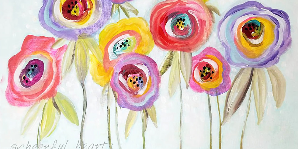 """COFFEE & CANVAS - """"Summer Blooms"""" only $25!"""