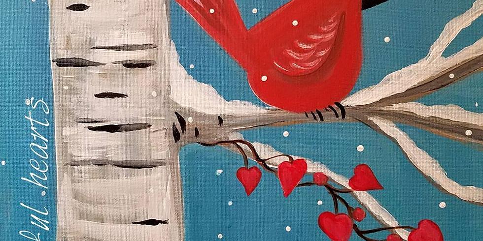 "OAKDALE DISCOVERY CENTER - ""Cardinal & Birch Treer"" -"