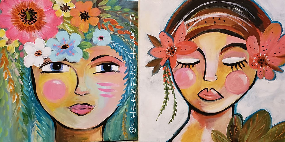 """Mounds View Community Center - JULY 22ND - """"LADY FACE FLORAL"""""""