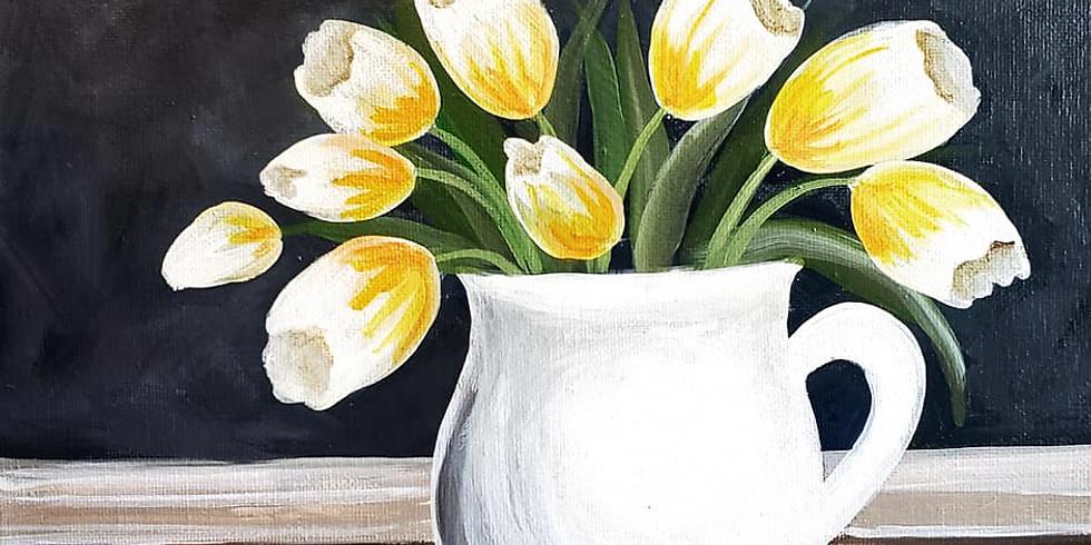 """EMMA B. YMCA - """"Tulips in White Vase"""" - Sept 17th"""