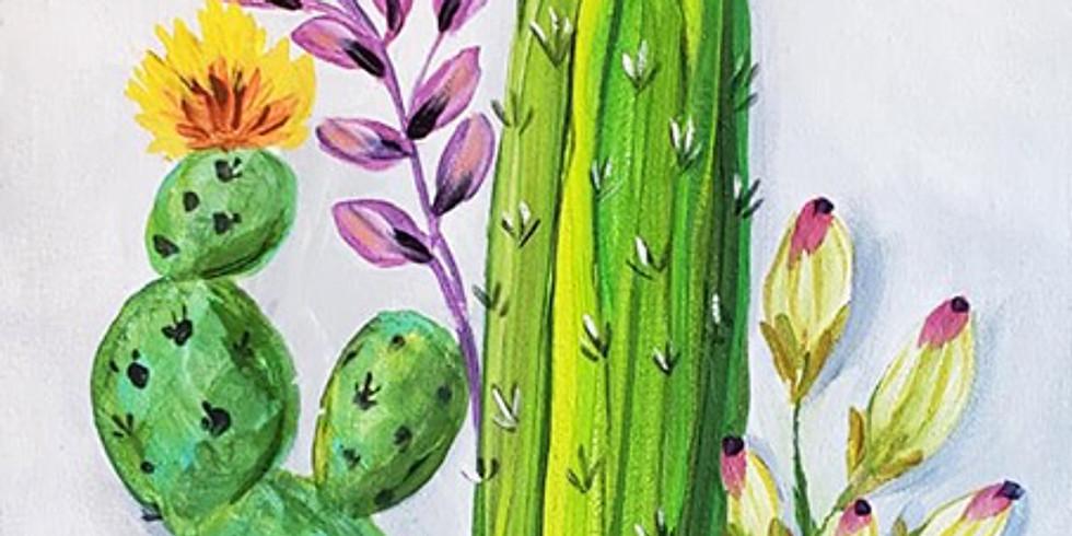 "Emma B YMCA - Northtown ""Cactus Garden"" $30"