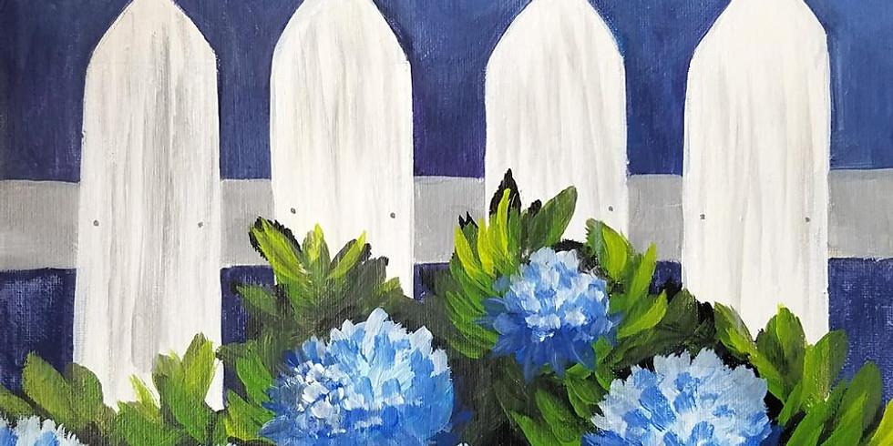"""SHOREVIEW YMCA - 'Hydrangea Garden"""" $25 canvas"""