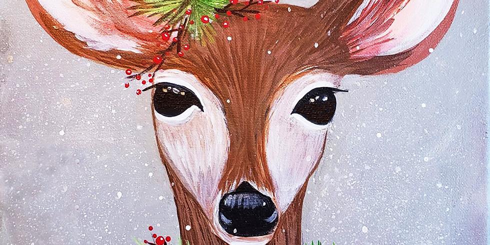 """Class Pending ZOOM online  """"Holiday Deer"""""""