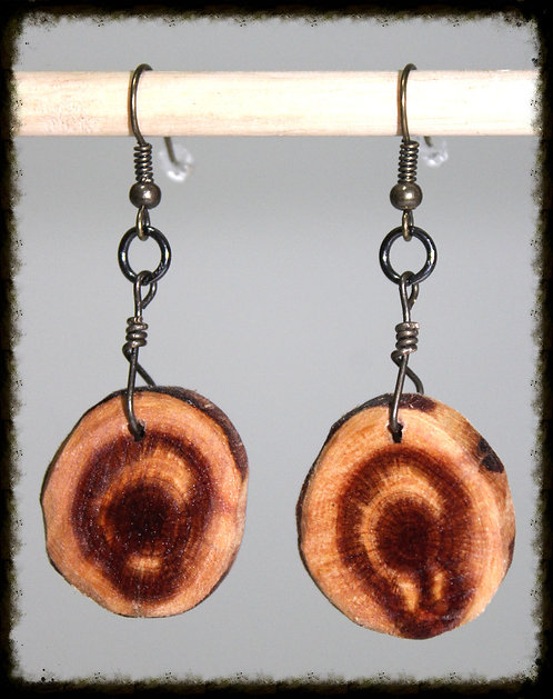 Handcrafted Eastern Red Cedar Earrings