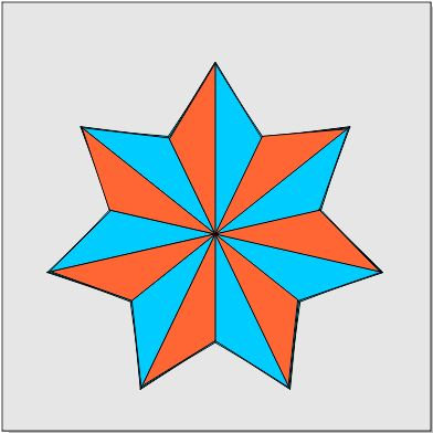 """""""Simple 3D Star""""  3 ft. x 3 ft. Tape & Trace Barn Quilt Pattern"""