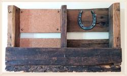 Pallet Shelf with one horseshoe and rais