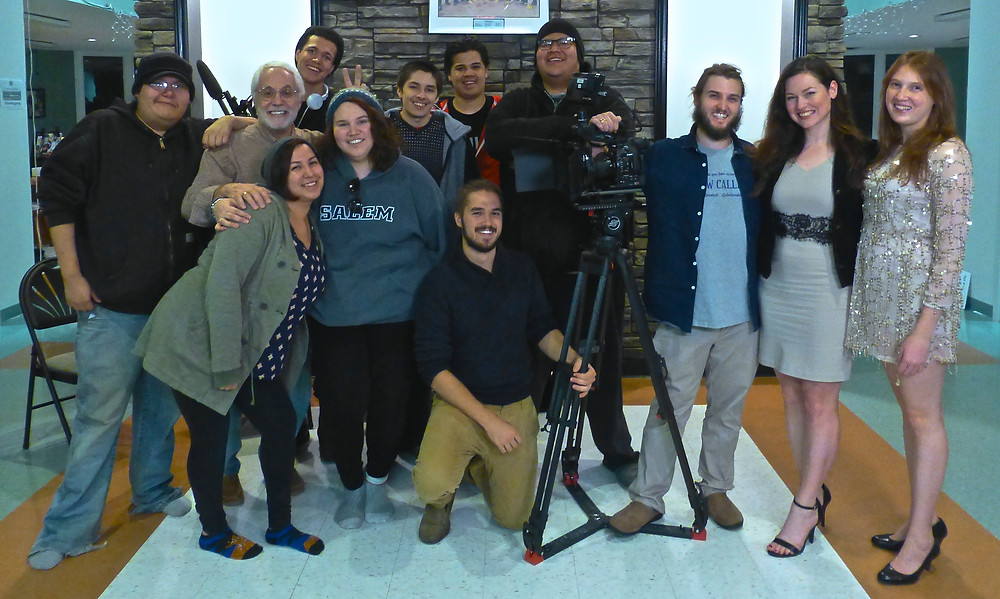 Mark Irwin on-set with Lab 1: Certificate in Film Production students