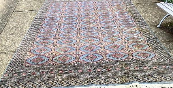 Wool and Silk Turkoman Rug