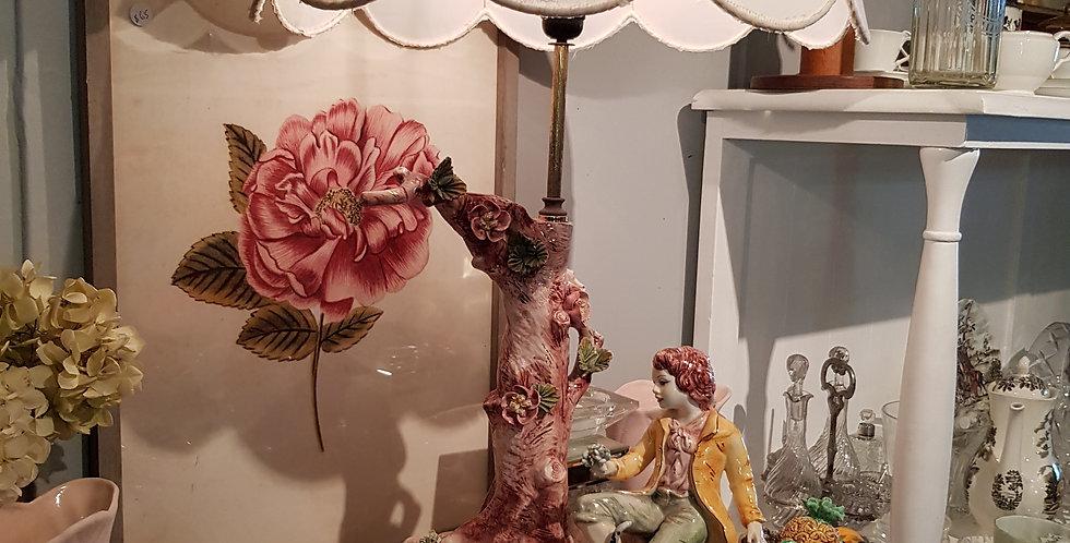 Vintage 'Capodimonte' Porcelain Lamp