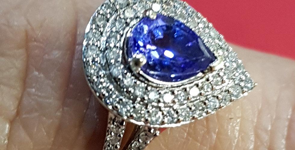 Tanzanite and Diamonds Ring