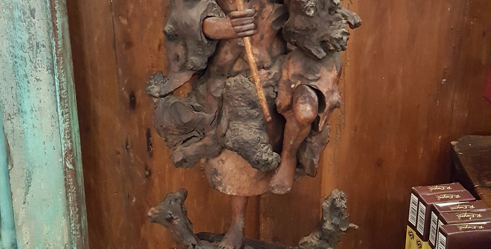 Antique Tree Root Carving