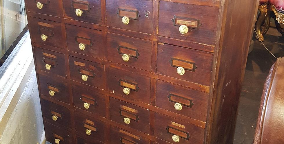 Antique 28 Drawer Cabinet