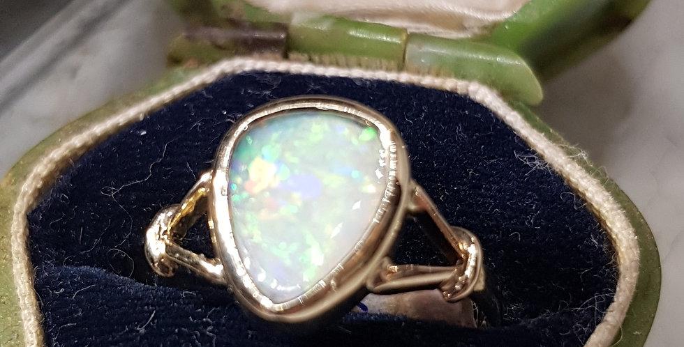 Pinfire Opal Ring