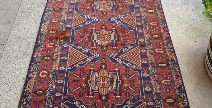 Antique Persian Hamadan Wool Rug