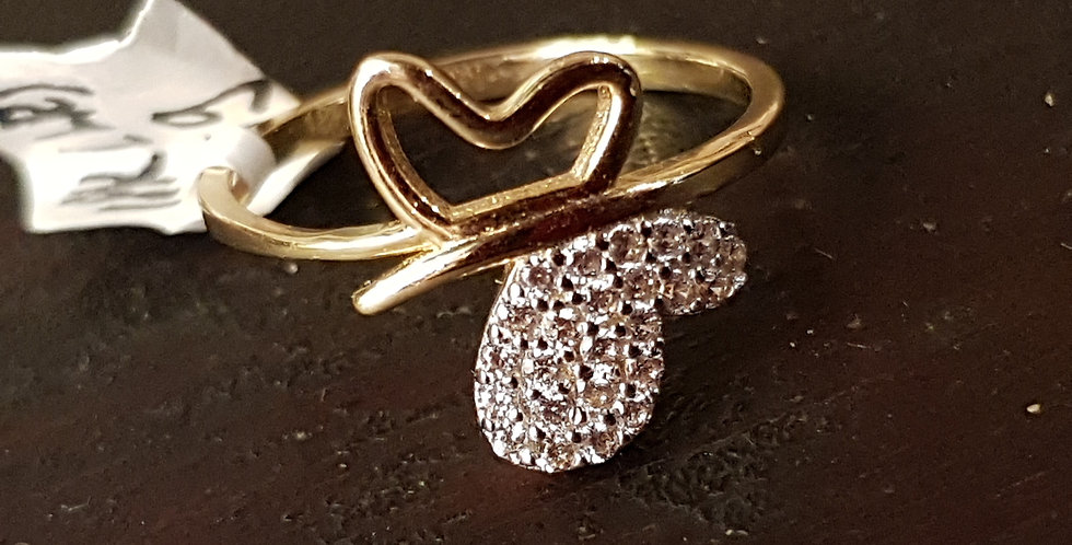 18ct Butterfly Ring