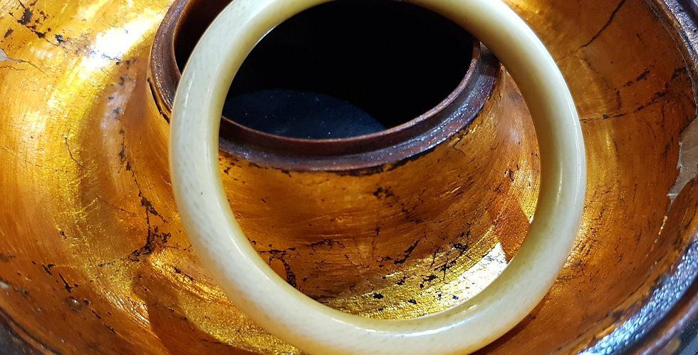 Antique Ivory Bangle (Thick)