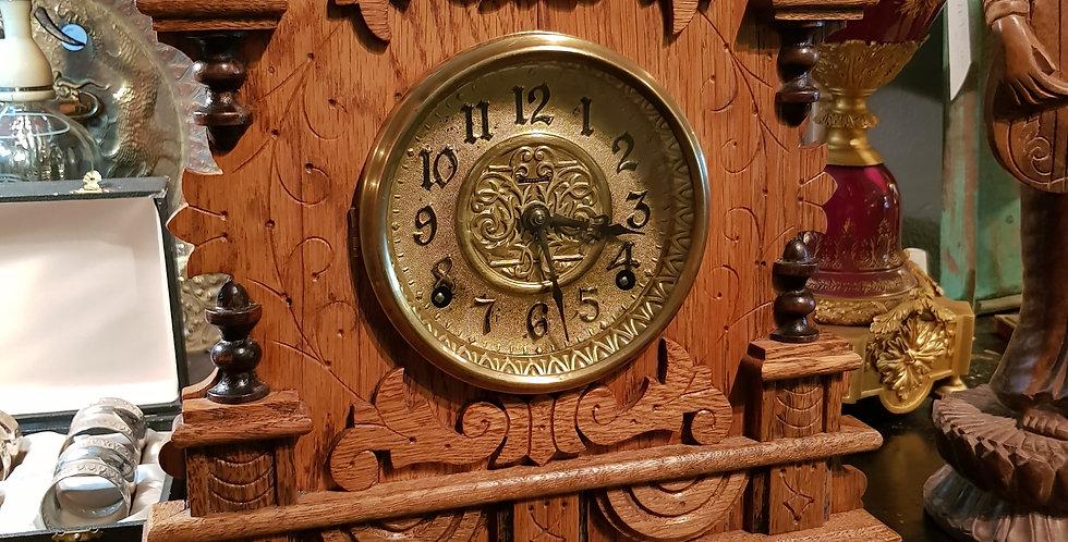 Victorian Oak Clock