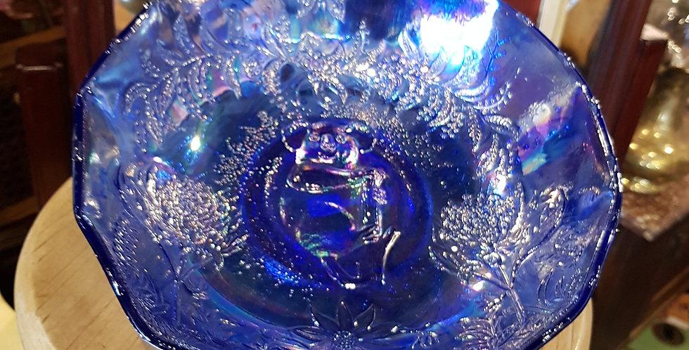 Lavender Carnival Glass Bowl