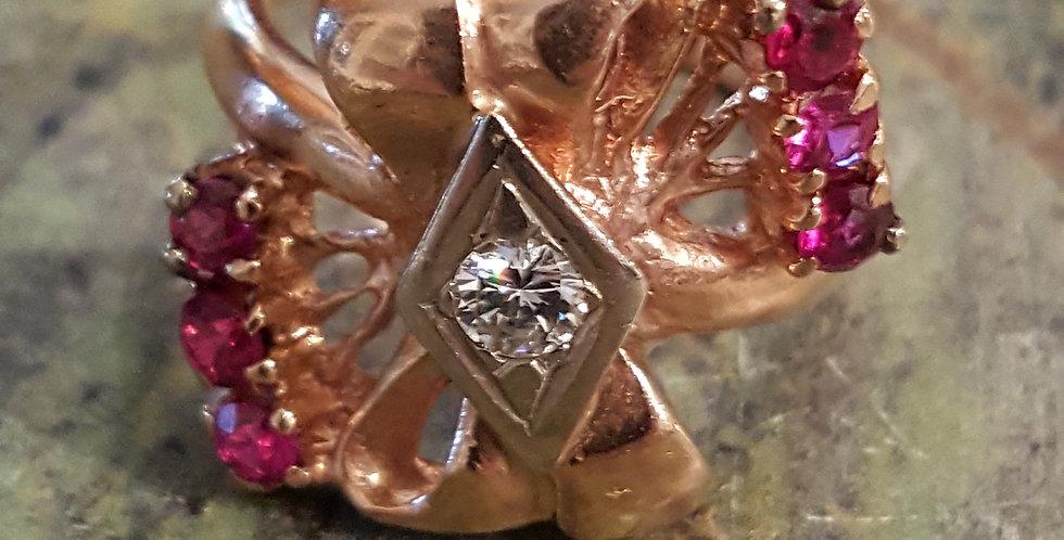 Rubies and Diamond Ring