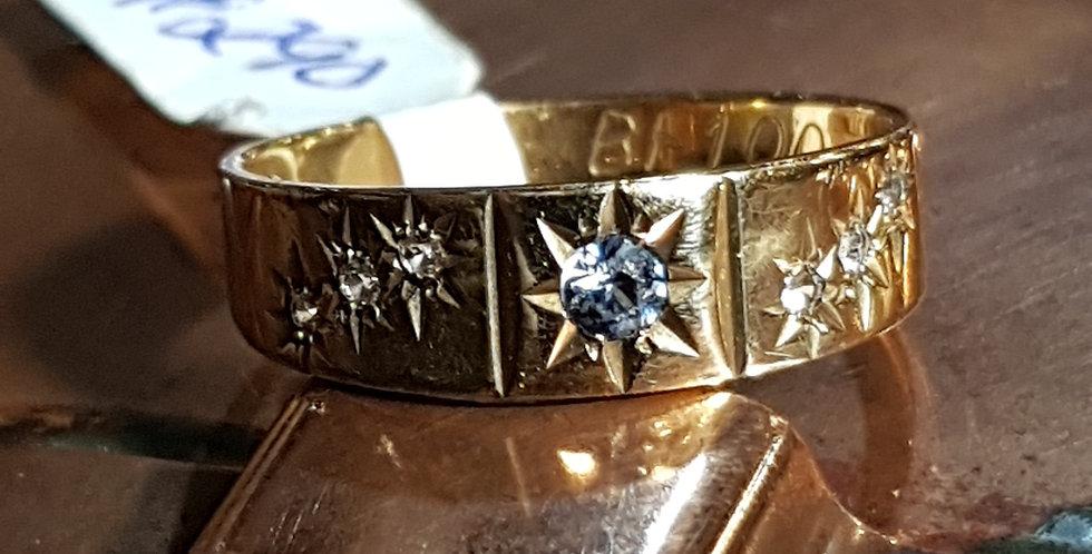 Topaz and Diamonds Ring
