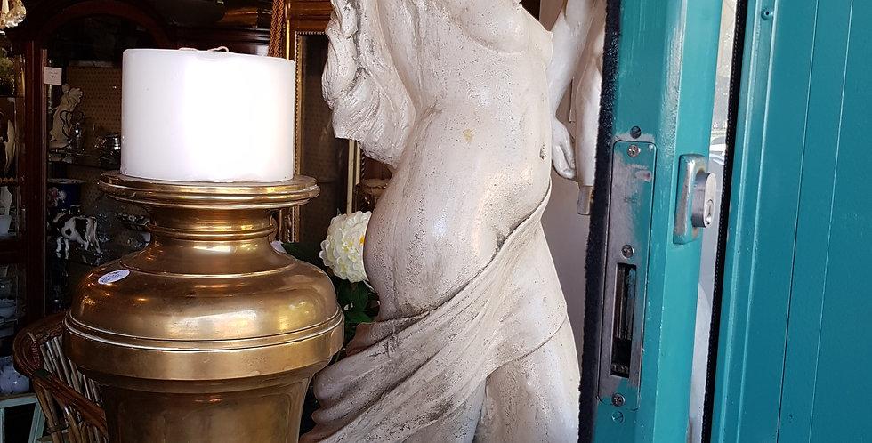 """Antique plinth &Concrete Garden Statue """"Delilah"""""""