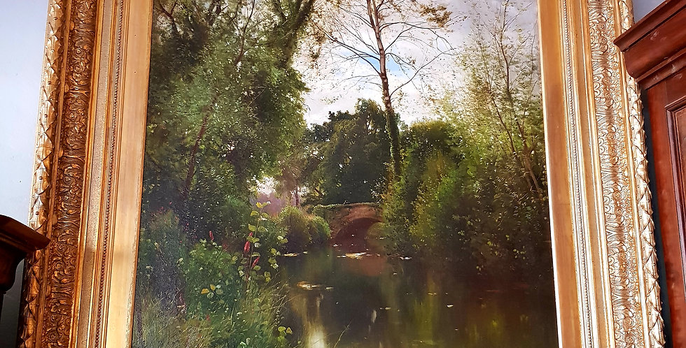 """""""The Pond"""" Painting"""