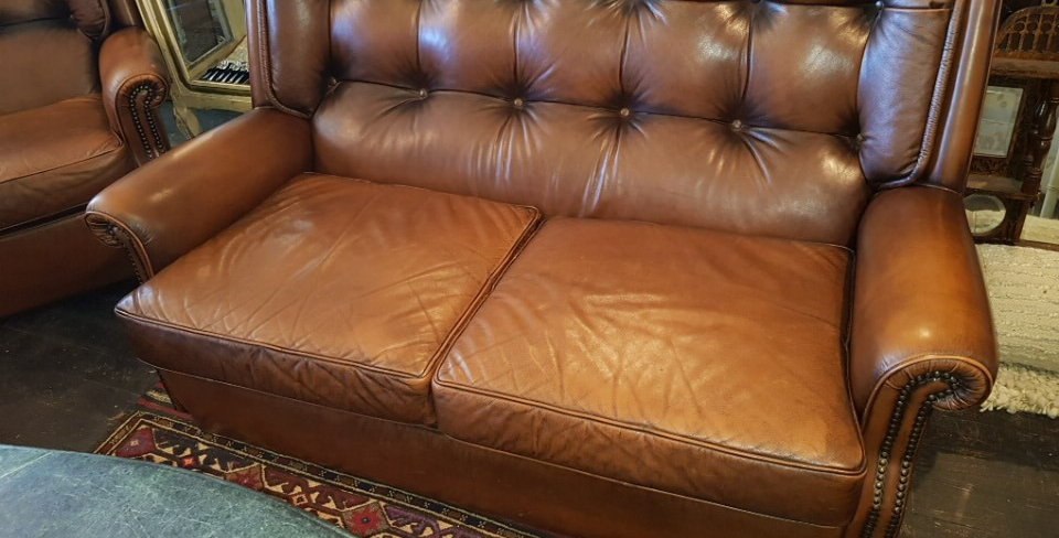 Moran Vintage Leather Chesterfield Suite