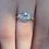 Thumbnail: Nine ^ gold aquamarine and diamond ring