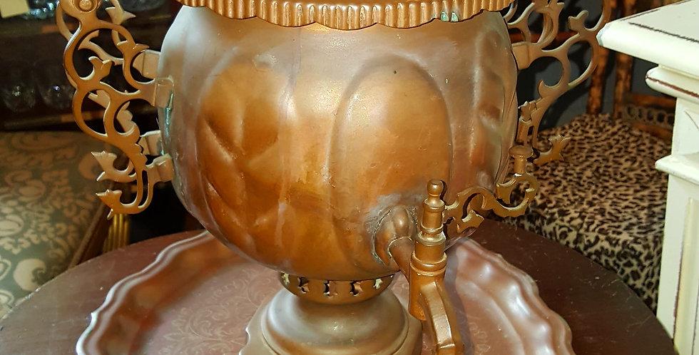Antique copper Samivar