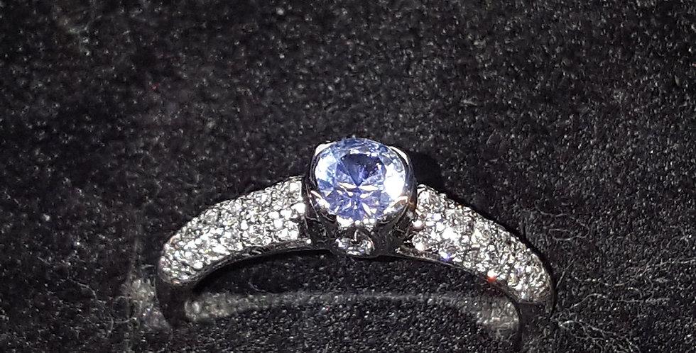 Ceylon Sapphire and Diamonds